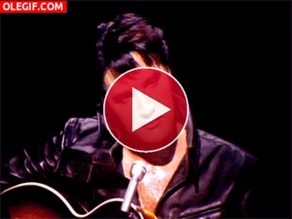 GIF: La mirada de Elvis
