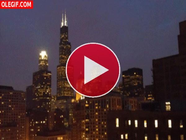 GIF: Amanece y anochece en la ciudad