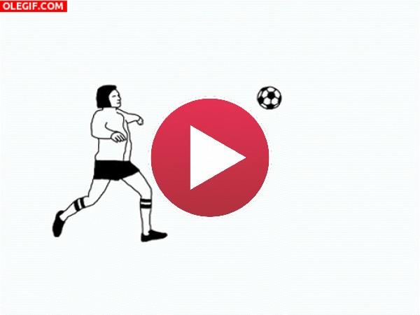 GIF: Mejor no juego al fútbol