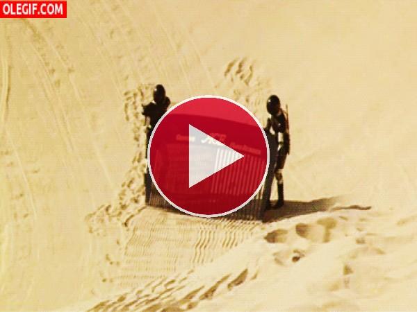 GIF: Peinando el desierto