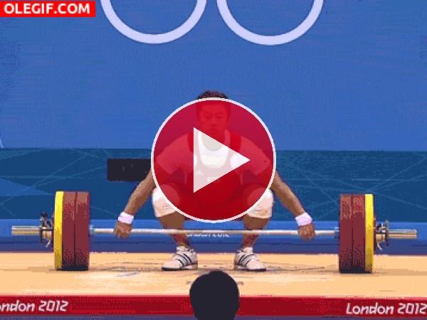GIF: Levantando y bajando las pesas
