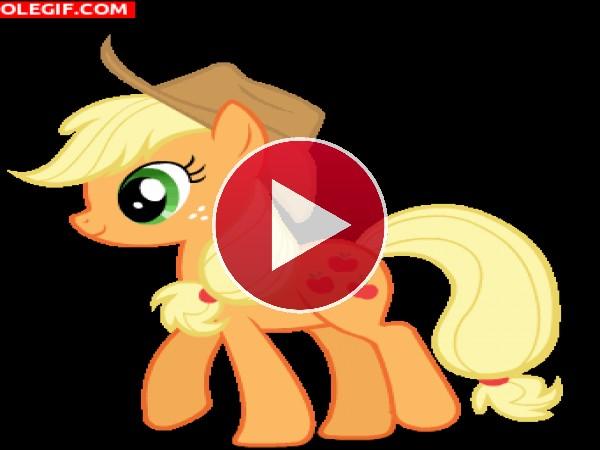 Applejack caminando