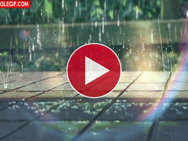 GIF: Día de lluvia