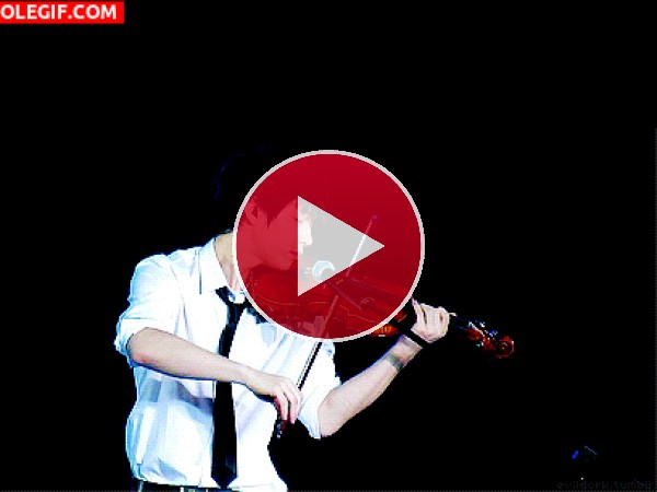 GIF: Tocando el violín