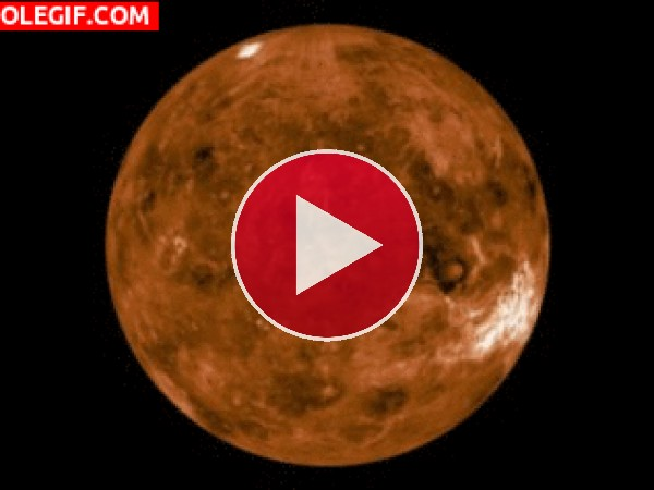 GIF: Rotación de Venus