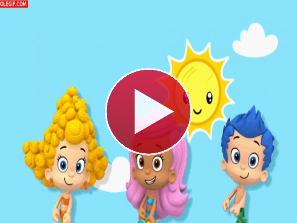 Los Bubble Guppies bailando