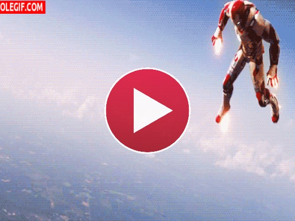 GIF: Iron Man al rescate