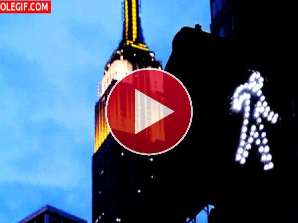 El Empire State iluminado