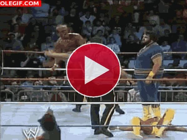 GIF: Caída del ring