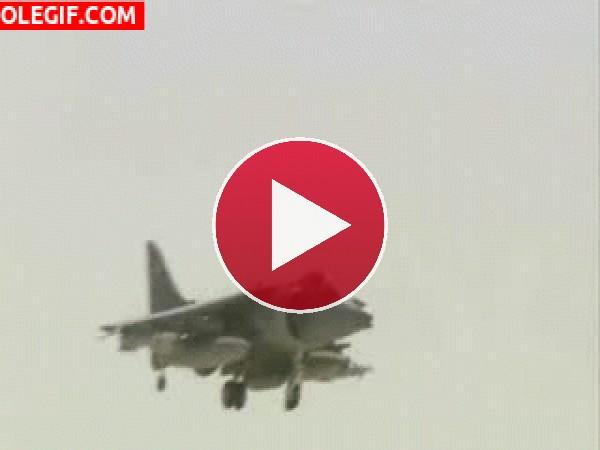 GIF: Aterrizaje forzoso