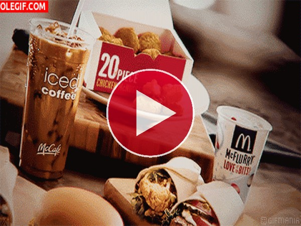GIF: Comiendo en el Mcdonald's