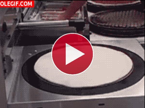 GIF: Preparando pizzas