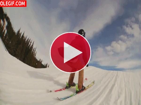 Voltereta con los esquís
