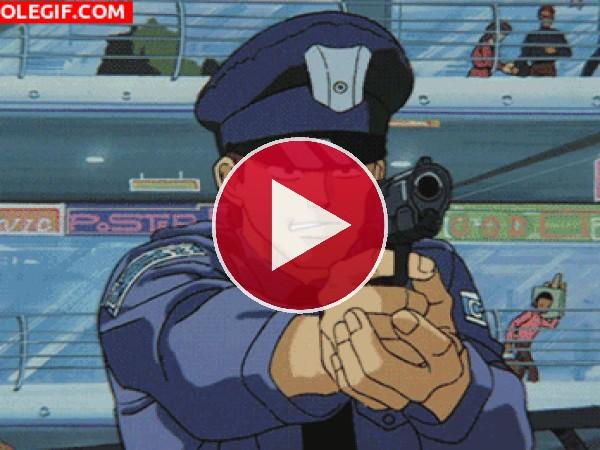 GIF: Mataron al policía