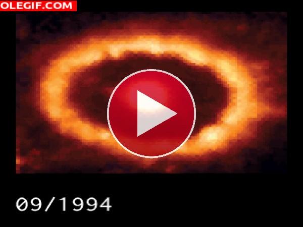 Evolución de una supernova