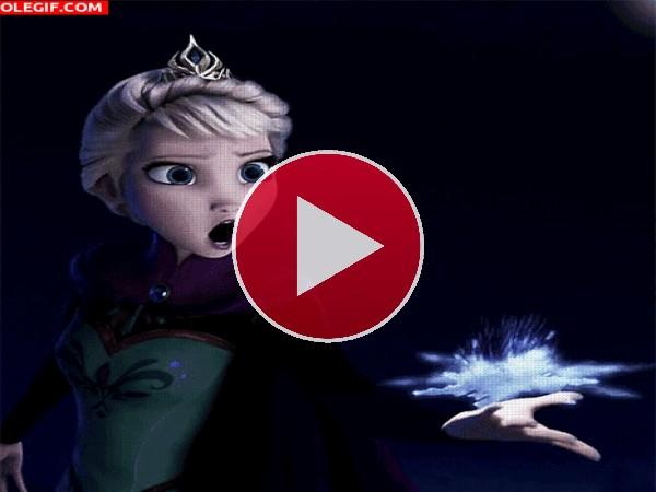 GIF: La magia de Elsa