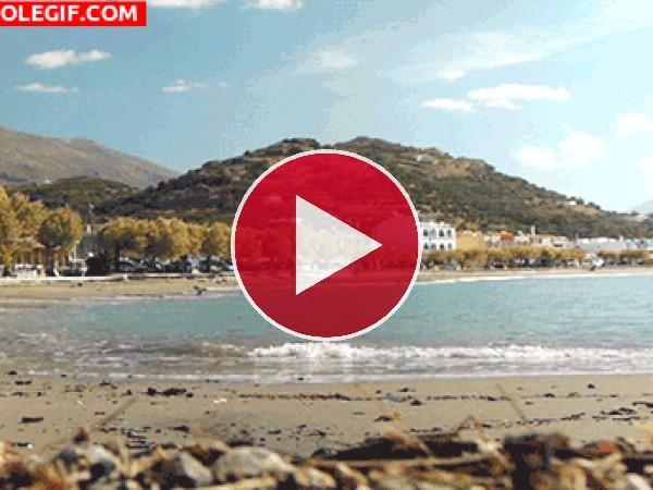 GIF: Oleaje en la playa