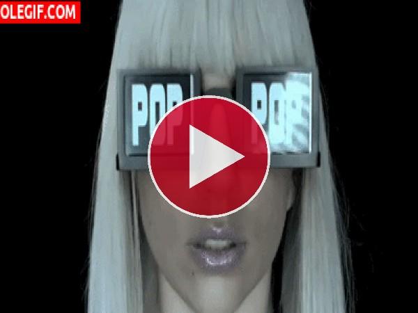 GIF: Molan las gafas de Lady Gaga