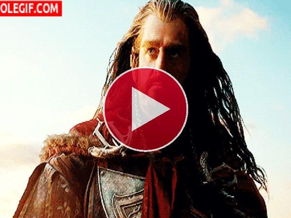 GIF: Thorin... Escudo de Roble