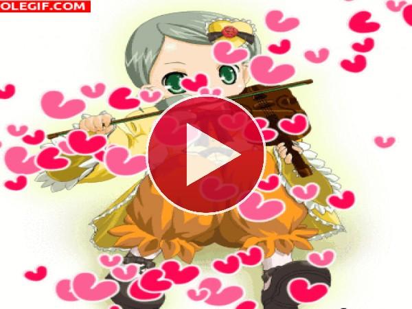 GIF: Melodía de amor