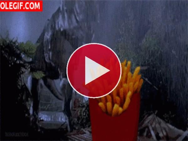 GIF: Me chiflan las patatas fritas