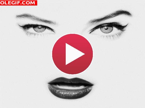 GIF: Movimiento de cejas