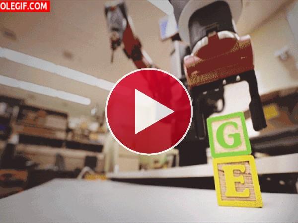 GIF: Brazo robótico en movimiento