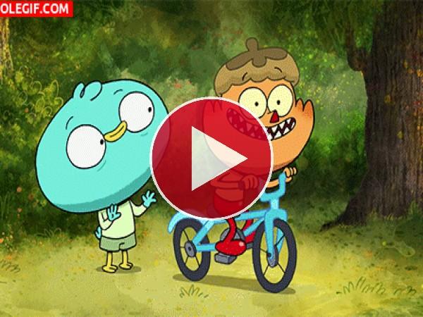 GIF: Cuando estás aprendiendo a montar en bici