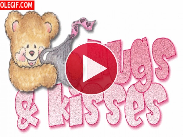 GIF: Besos y abrazos