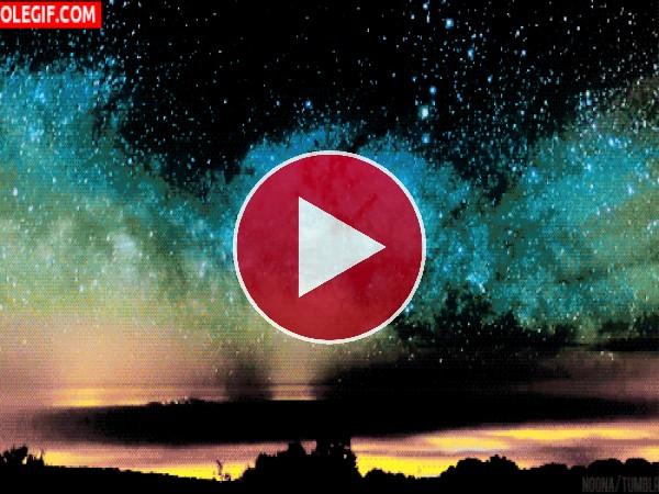 GIF: Vía Láctea en el cielo