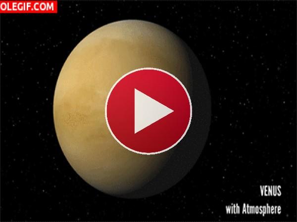 El planeta Venus con y sin atmósfera