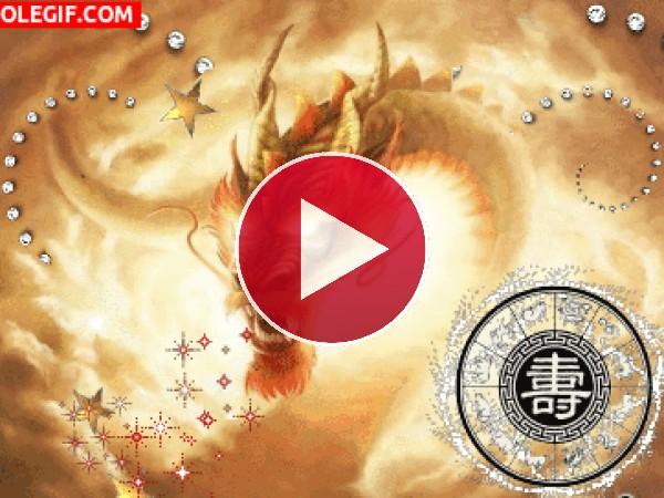 GIF: Dragón dorado