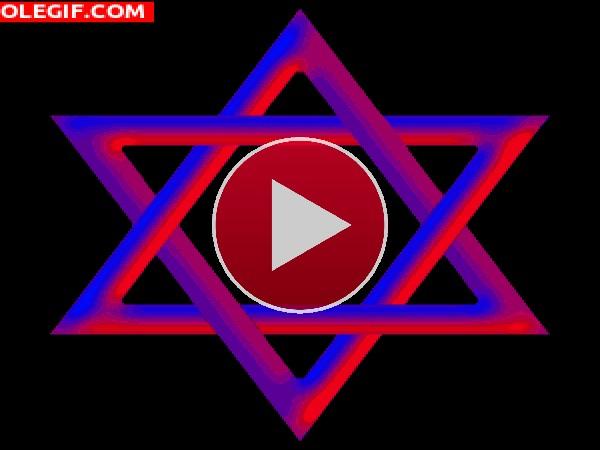 GIF: Estrella de David