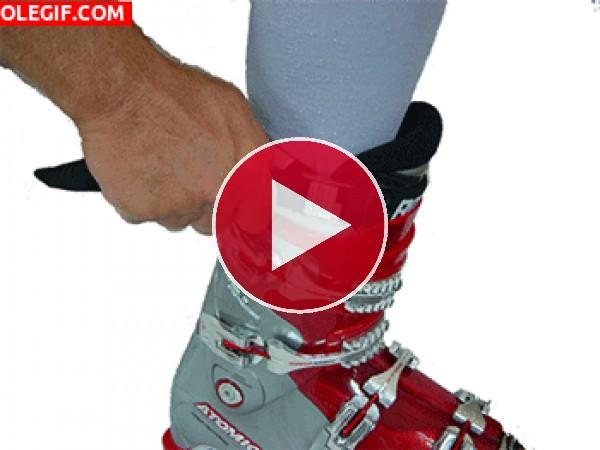 GIF: Bota de esquí