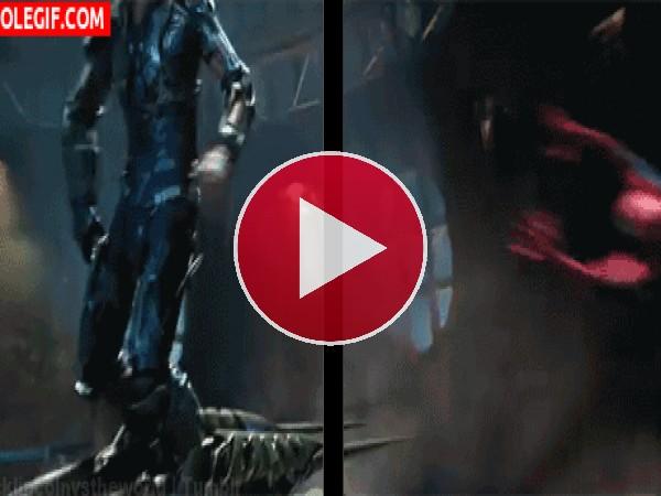 GIF: Spider Man contra Duende Verde