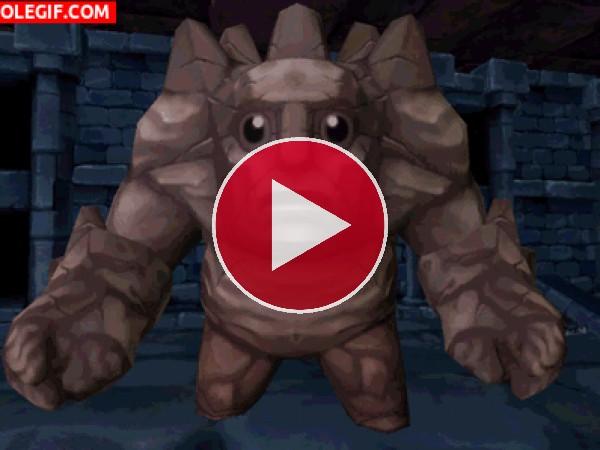 GIF: Golem de piedra