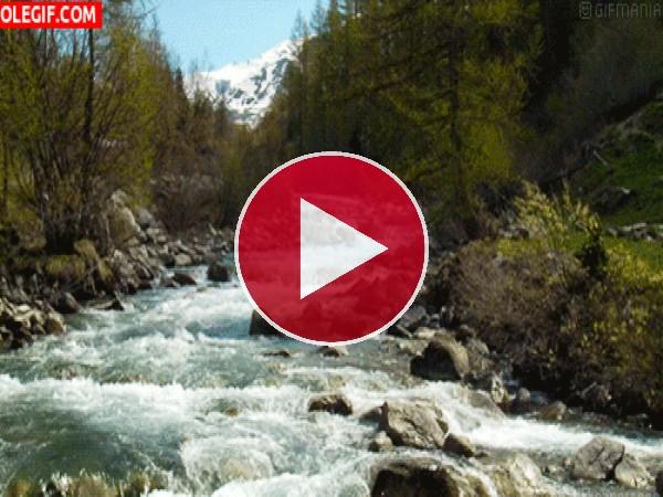 GIF: El descenso de un río