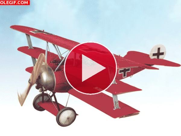 GIF: Fokker Dr.I del Barón Rojo