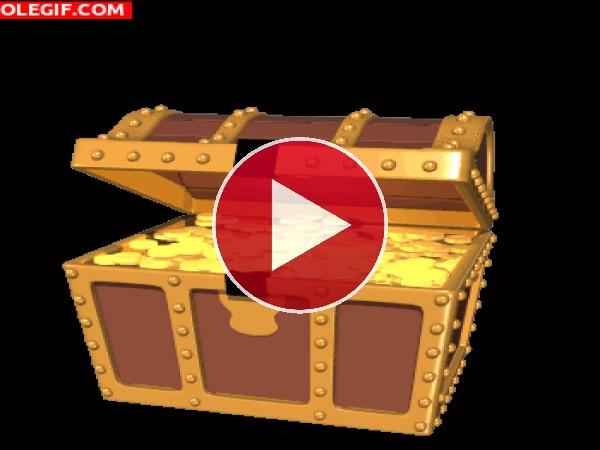 GIF: Cofre lleno de oro
