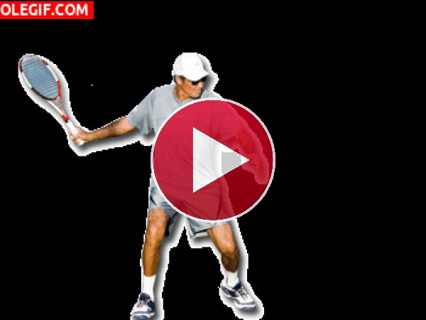 GIF: Jugando al tenis