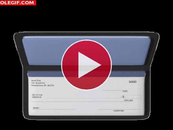 GIF: Talonario de cheques