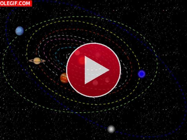 GIF: El Sistema Solar en movimiento