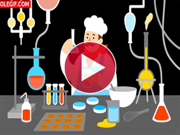 GIF: ¿Cocinero o químico?