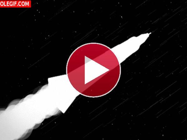 GIF: Cohete espacial