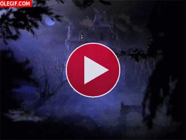 GIF: Casa fantasmal