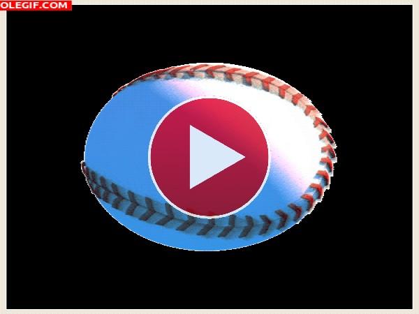 Pelota de béisbol girando