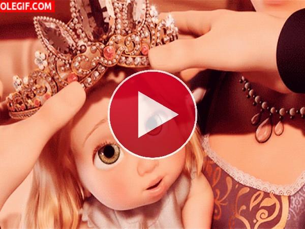 GIF: La princesita Rapunzel