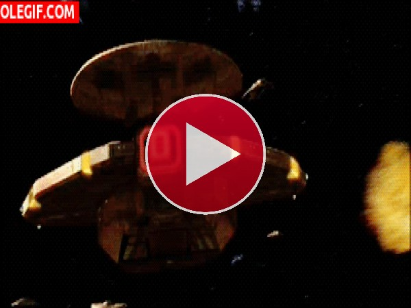 GIF: Naves cardasianas disparando (Star Trek)