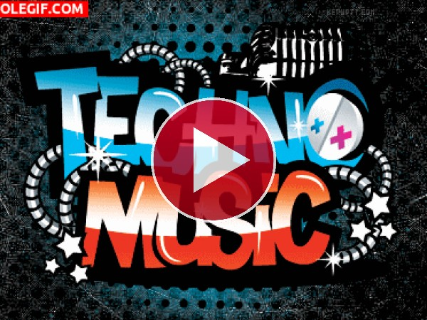 GIF: Música techno