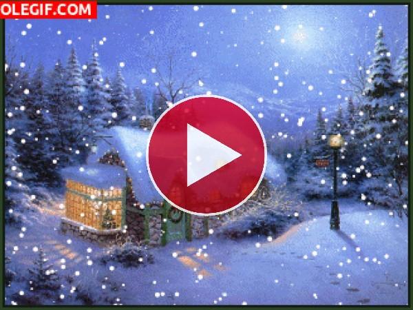 GIF: Escena navideña